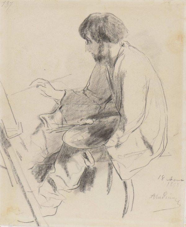 Clément Auguste Andrieux (1829-1880): Autoportrait